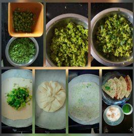 Coriander Matar Paratha Recipe