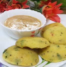 Spicy Idlis With Groundnut Chutney Recipe