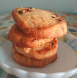 Eggless Cranberry Orange Slice Cookies Recipe