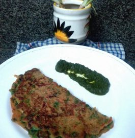Oats Spinach Spring onion Pancake