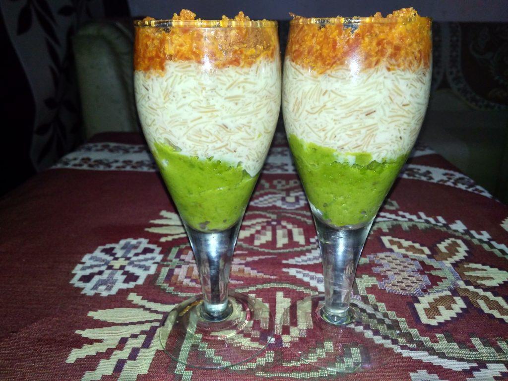 Tricolour Dessert Recipe