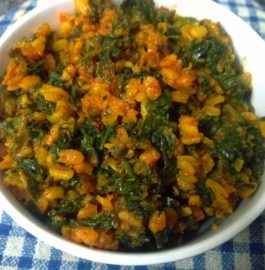 Mooli Patta And Moong Mogar Ka Saag Recipe