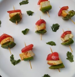 Tri Color Paneer Tikka Recipe