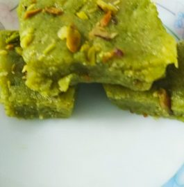 Green Peas And Pista Burfi Recipe