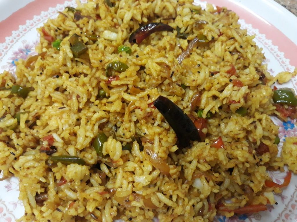 Achari Fried Rice Recipe