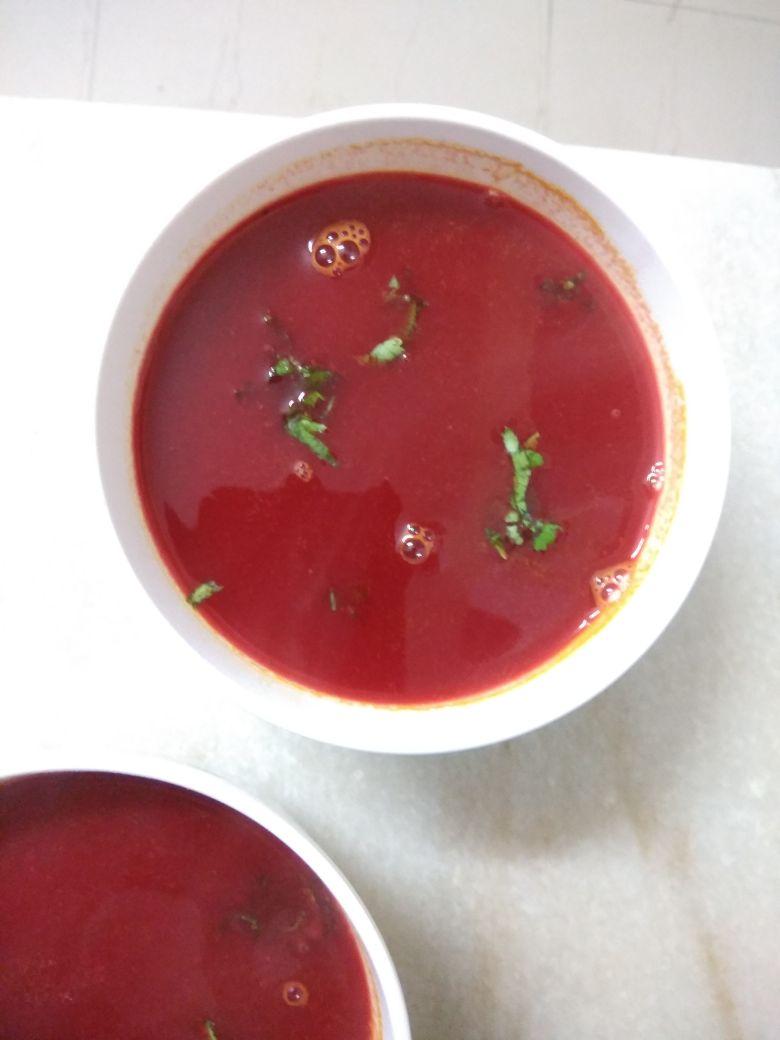 Tomato Beetroot Soup Recipe