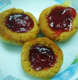 Wheat Jam Cookies Recipe