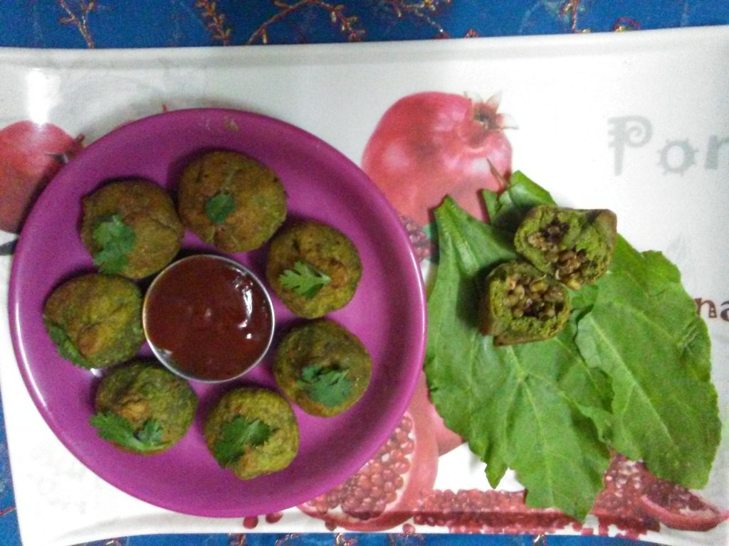 Palak Sprout Potli Recipe