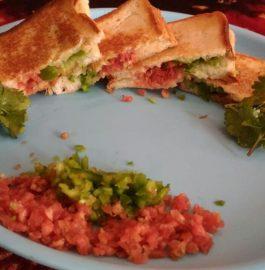 Rainbow Grilled Sandwich Recipe