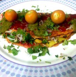 Besan Tortilla Wrap Recipe