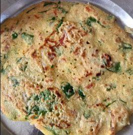 Sooji Besan Cheela With Veggies Recipe