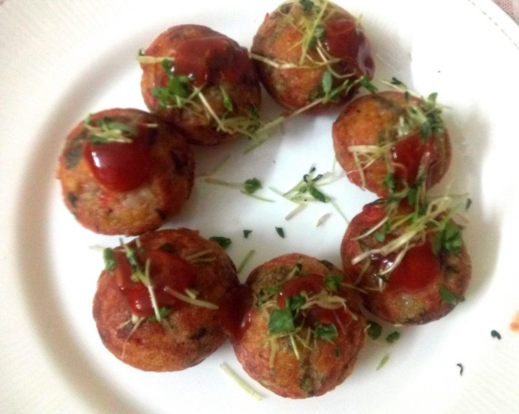 Sooji Poha Appam With Veggies Recipe
