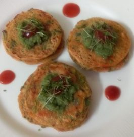 Oats Sooji Besan Mini Pancakes Recipe