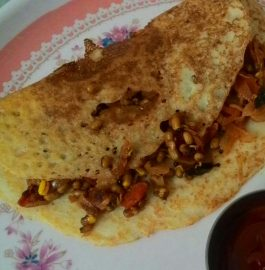 Moong Stuffed Dosa Recipe