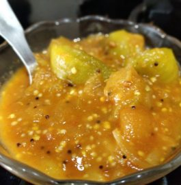 Brinjal Raw Mango Curry Recipe