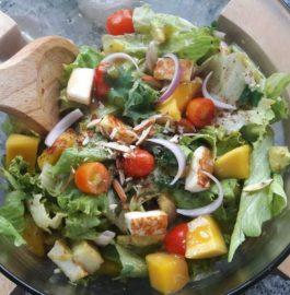 Grilled Paneer Mango Avocado Salad Recipe