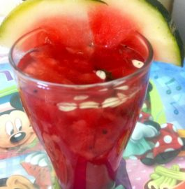 Watermelon Buransh Red Agua Fresca Recipe