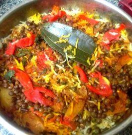 Saboot Masoor Dal Biryani Recipe