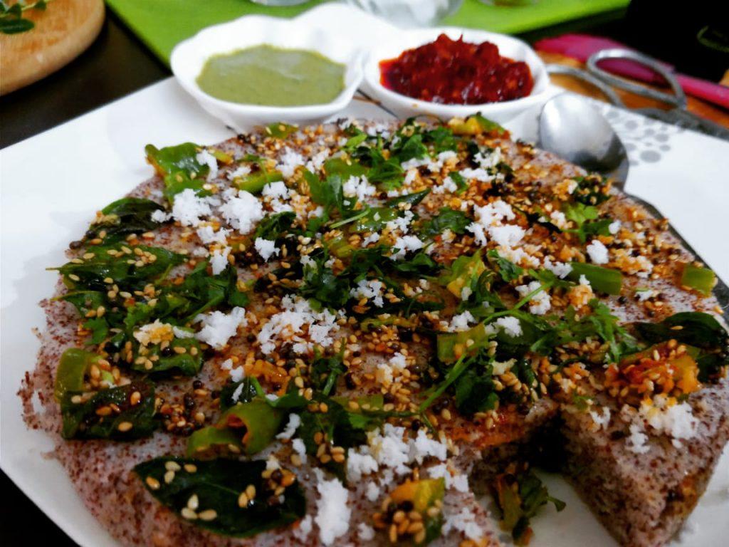 Instant Ragi Dhokla Recipe