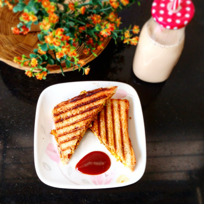 Paneer Cheese Grilled Sandwich Recipe