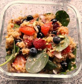 Quinoa Mixed Berries Salad Recipe