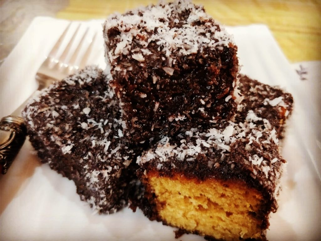 Lamington Sponge Cake | Eggless And Chocolate Special Recipe