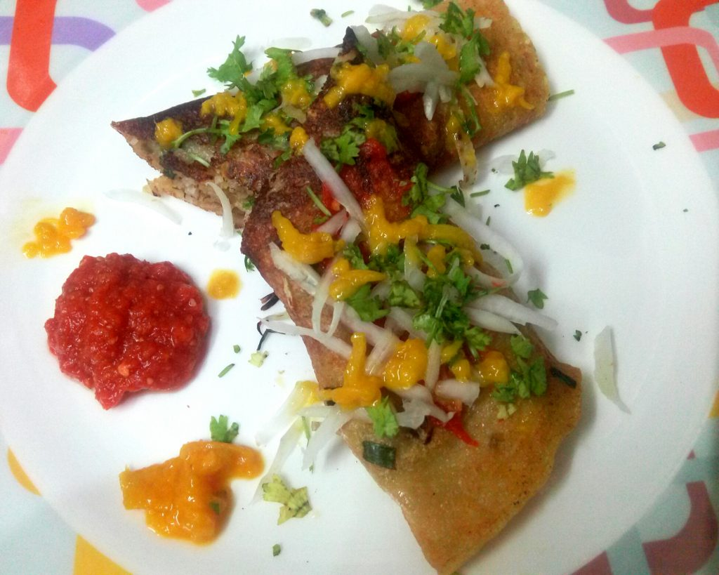 Thai Som Tam Oats Crepes Recipe