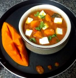 Paneer Kesar Mango Curry Recipe