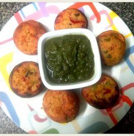 Watermelon Rind Oats Sooji Paniyaram Recipe