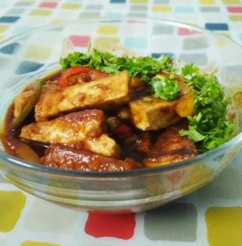 Spicy Soya Paneer | Spicy Tofu Recipe