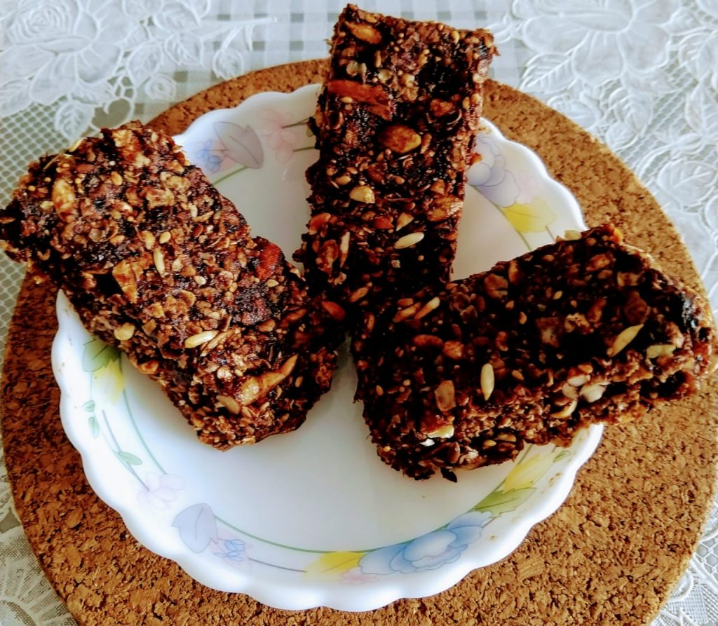 Chocolate Oats Granola Bar Recipe