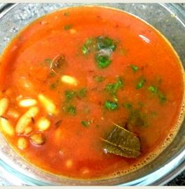 White Rajma And Plum Curry Recipe