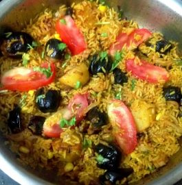 Stuffed Brinjal Veg Biryani Recipe