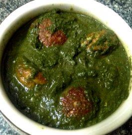 Paneer Kofta in Spinach Gravy Recipe