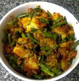 Aloo Lobia Beans Sabzi Recipe