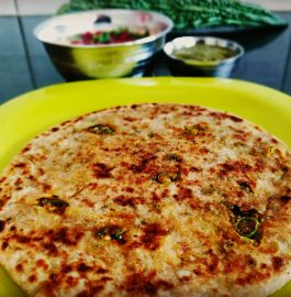 Karela Peels Paratha Recipe