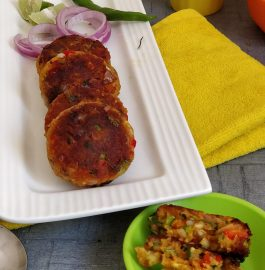 Leftover Bread Veggie Cutlets Recipe