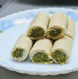 Kaju Pista Roll Recipe