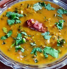 Palak Dal | Spinach Dal | Palakura Pappu Recipe