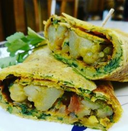Besan Chilla Wrap Recipe