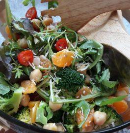 Chickpea Vegetarian Protein Rich Salad Recipe