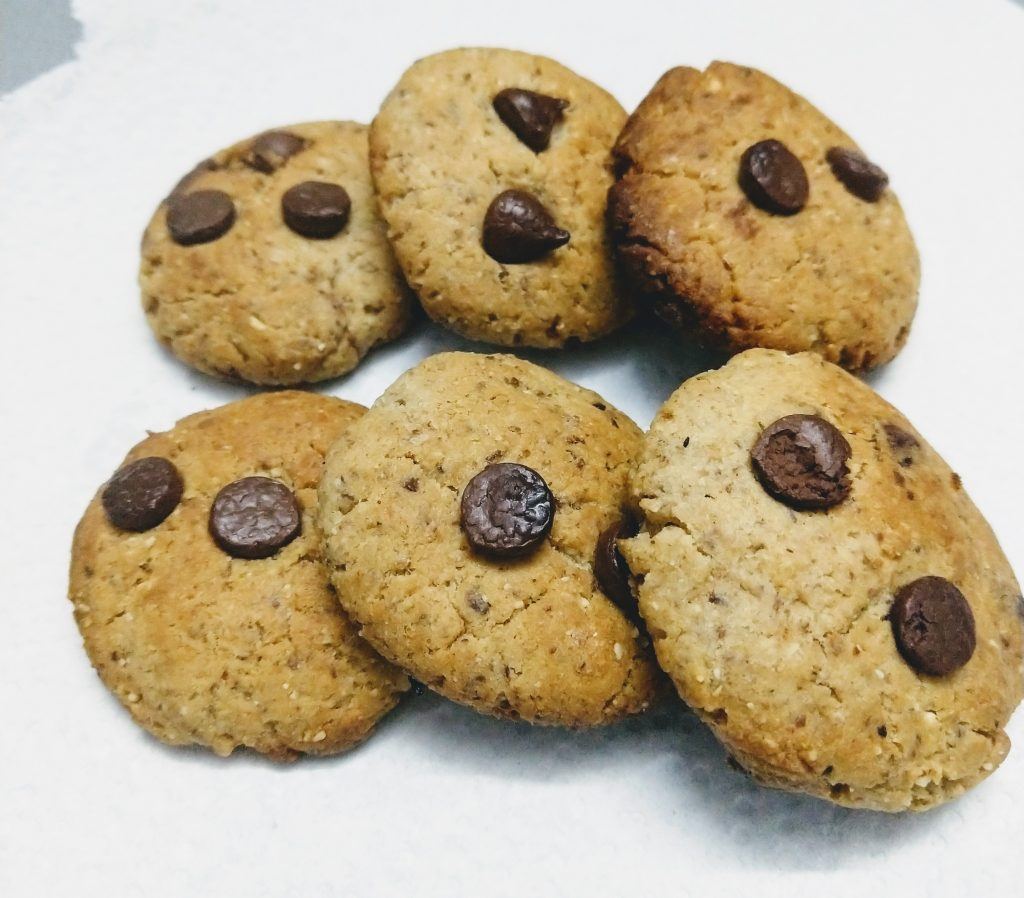 Almond Wheat Cookies With Flaxseed Recipe