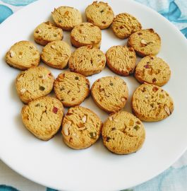 Tutti Frutti Biscuits With Wheat Flour Recipe