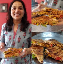 Pizza Sandwich - Quick 5 Minute Recipe