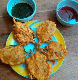 Spinach Leaves Pakoras Recipe