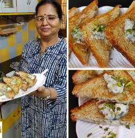 Malai Sandwich Recipe