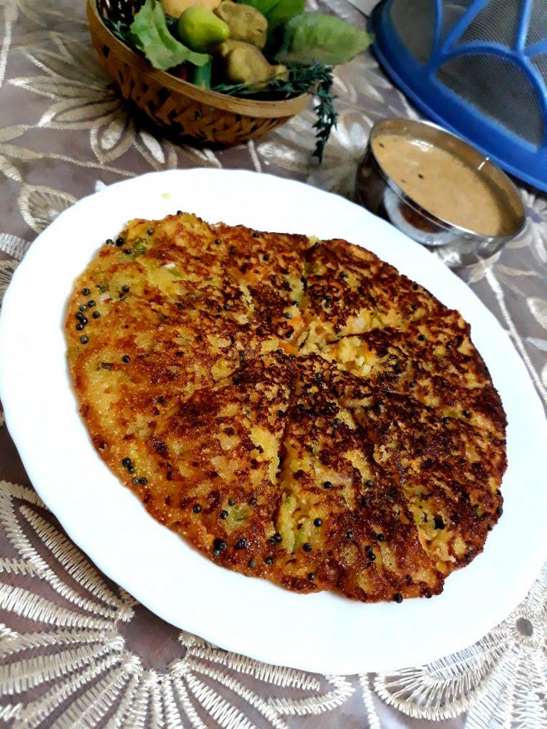 Suji Besan Pancake Recipe