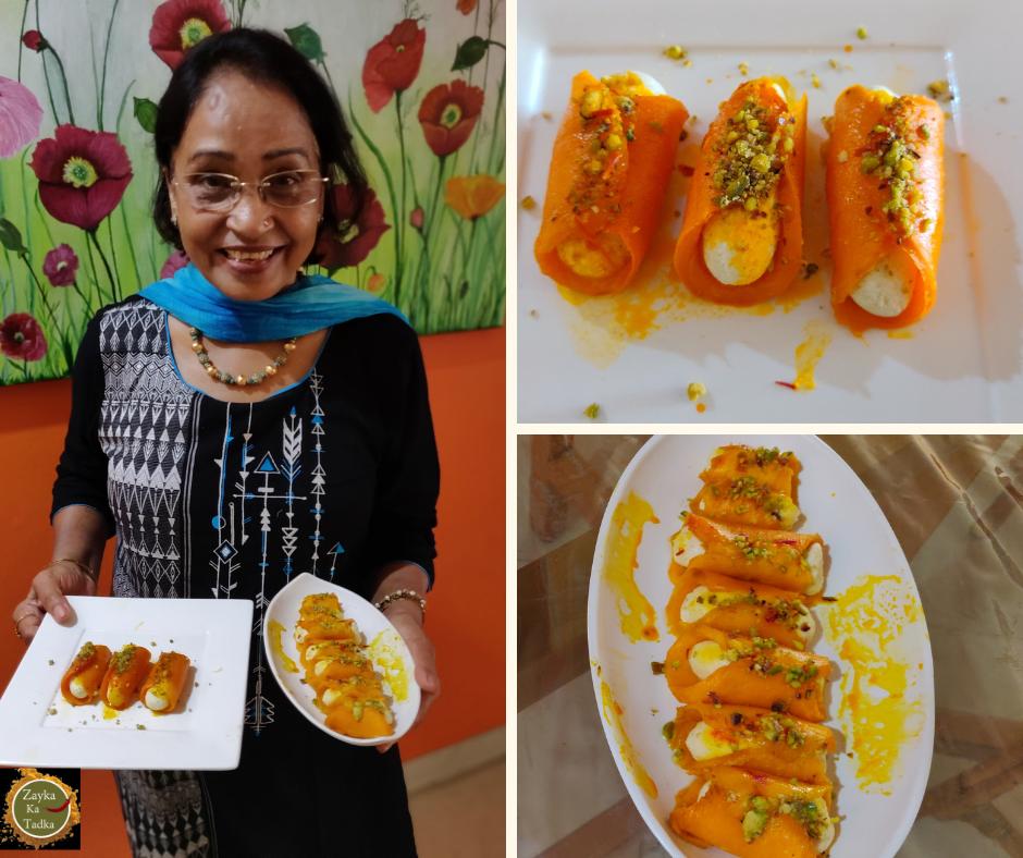 Stuffed Mango Sandesh Recipe