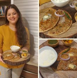 Pyaaz Ka Paratha | Punjabi Pyaaz Paratha Recipe