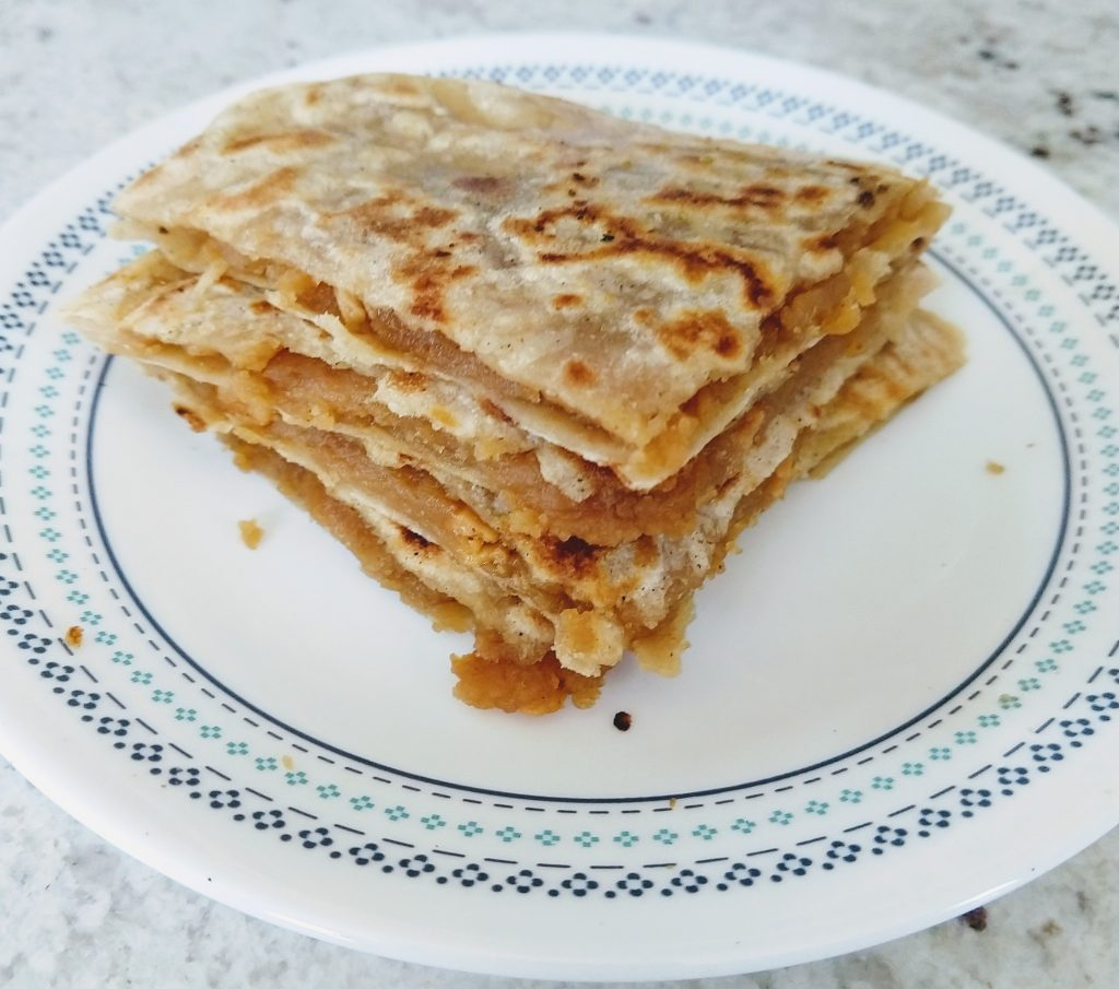 Puranpoli from leftover Soanpapdi Recipe